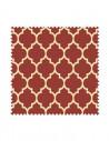 Próbka Tkanina w koniczynę marokańską na bordowym tle, arabeska CRUSH VELVET