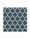Próbka Tkanina w koniczynę marokańską na niebieskim tle, arabeska CRUSH VELVET