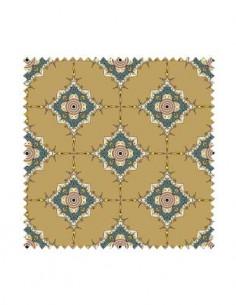 PRÓBKA Tkanina w ornamenty geometryczne na złotym tle 03 CRUSH VELVET