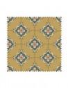 Próbka Tkanina w ornamenty geometryczne na złotym tle CRUSH VELVET