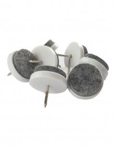 Podkładki filcowe wbijane koło fi 20mm białe op. 8 szt KM350