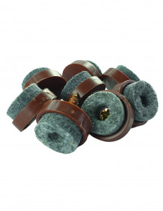 Podkładki filcowe wkręcane koło fi 20mm brązowe op. 8 szt KM371