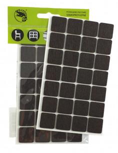Podkładki filcowe samoprzylepne kwadrat 20x20mm brązowe op. 28 szt KM320