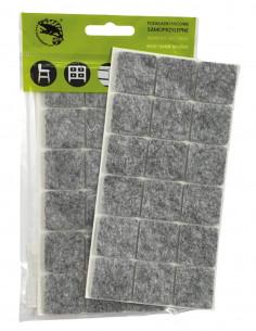 Podkładki filcowe samoprzylepne kwadrat 25x25mm szare op. 18 szt KM326