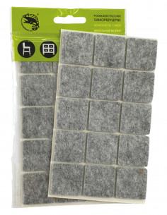 Podkładki filcowe samoprzylepne kwadrat 30x30mm szare op. 15 szt KM331