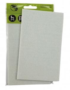 Podkładki filcowe samoprzylepne prostokąt 100x165mm biała op. 1 szt KM340