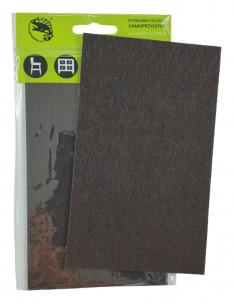 Podkładki filcowe samoprzylepne prostokąt 100x165mm brązowa op. 1 szt KM341