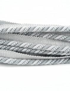 Sznurek ozdobny matowy z wypustką 8 mm stalowo-szary KM13815