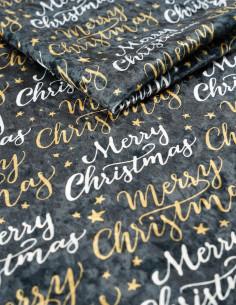Tkanina MERRY CHRISTMAS 01 CRUSH VELVET