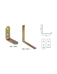 KĄTOWNIK WĄSKI KW11-150/150/25/4mm  (25)  KW11