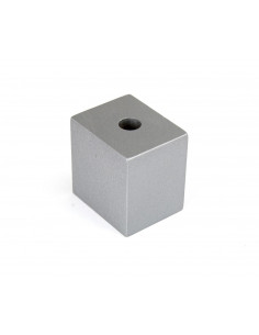NOGA MEBLOWA KM661 kostka leżąca H50, L50 srebrna