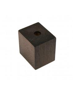 NOGA MEBLOWA KM664 kostka leżąca H50, L50 orzech