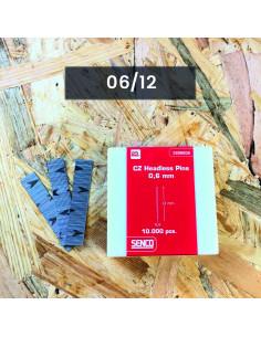 SZTYFT 0.6/12mm BEZ GŁÓWKI GALW op.10.000
