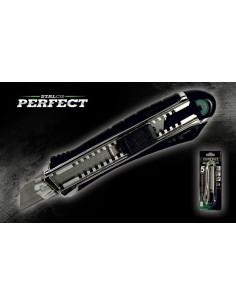 NÓŻ Z OSTRZEM ŁAMANYM 18mm  S-67418   PERFECT
