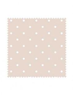 PRÓBKA Tkanina w białe kropki na różowym tle 02 WONDER VELVET