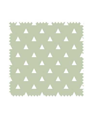 Próbka Tkanina w białe trójkąty na zielonym tle WONDER VELVET