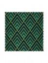 Próbka Tkanina w romby Art deco w kolorze zielonym CRUSH VELVET